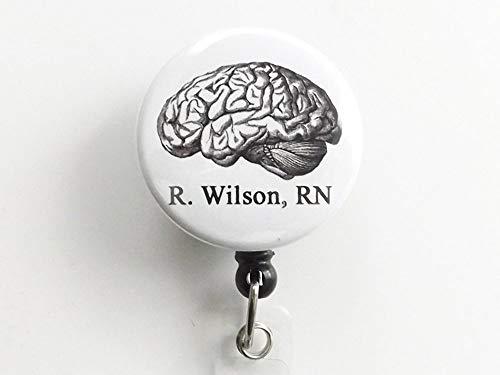 Custom Anatomy ID Badge Holder Retractable Reel Physician Assistant Nurse Practitioner Medical School Graduation ()