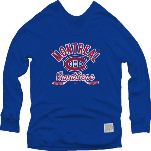 (Original Retro Brand NHL Montreal Canadiens Women's Pullover Sweatshirt, X-Large,)