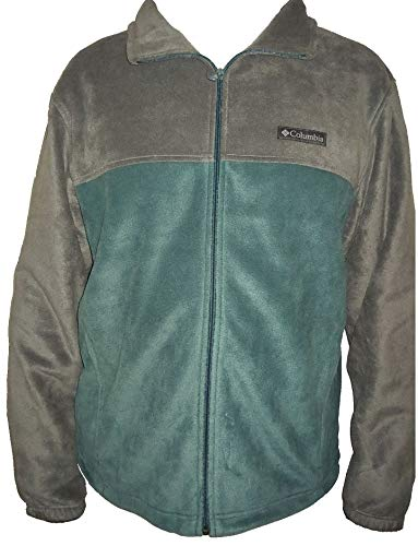 Columbia Men's Steens Mountain Full Zip 2.0 Soft Fleece Jacket (Ocean Green/Grey, Large)
