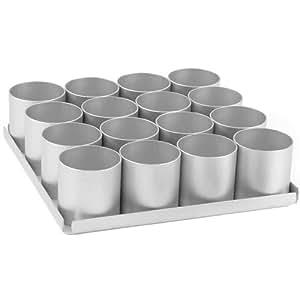 Alan Silverwood - Bandeja con 16 moldes cilíndricos (6,5 cm)
