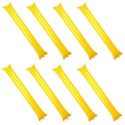 Creatyi 40 PCS Thicken Bam Bam Thunder Sticks Cheering Sticks Cheerleading Cheering Sticks for Sports Cheers Ball Dance Basketball Football Noisemakers (Yellow) (Football Noisemaker)