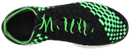 Nike Free Inneva Geweven Heren Hardloopschoenen Trainers Sneakers 579916 030 Zwart / Zwart-poison Green-sail