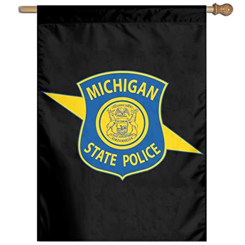 TYZBAOOSDUP Michigan State Police House Flag Decorative Garden Flag Yard Banner Garden Flags 27x37 ()