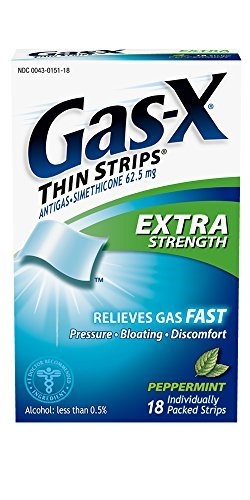 Gas-X Thin Strips Antigas, Extra Strength, Peppermint Flavored Strips, 18 strips by Gas-X by Gas-X