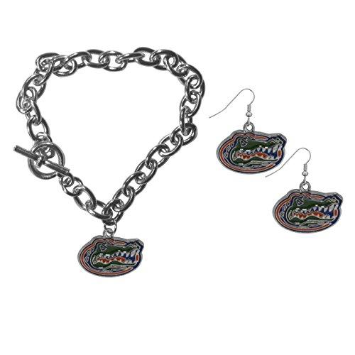 Siskiyou NCAA Florida Gators Chain Bracelet & Dangle Earring Set