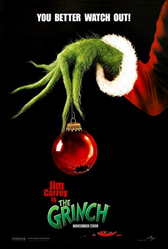 THE GRINCH MOVIE POSTER 2 Sided ORIGINAL Advance