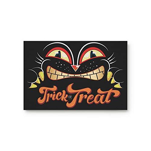 Meet 1998 Halloween Black Cat Trick or Treat Door Mats Rug,Floor Mats Front Doormats Non-Slip Bedroom Carpet Home Kitchen Rug 18x30 inch