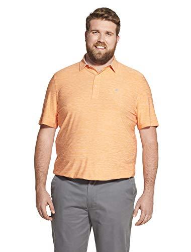 IZOD Men's Golf Title Holder Short Sleeve Polo, Melon, X-Large
