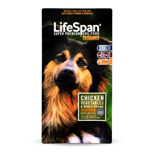 PetGuard Life Span Chicken Flavor Dry Dog Food, 38-Pounds (Pack of 1)