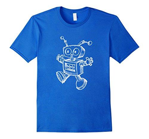 Men's Robot T-Shirt Robotics Retro Art Science Toy Vintag...