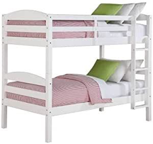 Better Homes And Gardens Leighton Wood Bunk Bed Twin Over Twin White Furniture Decor