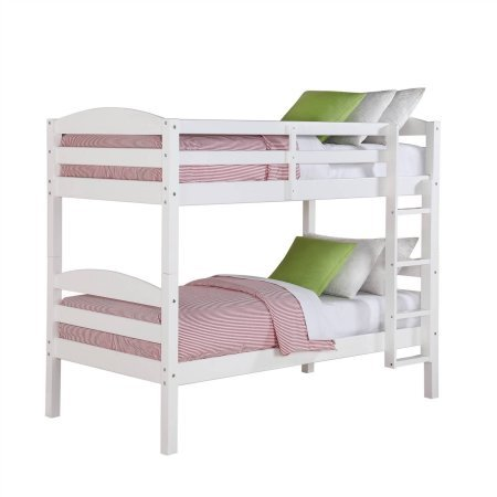 Better Homes and Gardens Leighton Twin Over Twin Wood Bunk Bed, White (Twin, White) from Better Homes and Gardens-