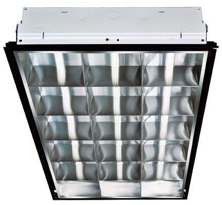 Dabmar Lighting DC-LED4050 Lay-In LED 3 Lamp Ceiling Fixture, 2' x 4', White
