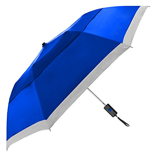 StrombergBrand 'The Vented Lifesaver' Automatic Open, Windproof, Reflective Safety Strip, Case,, Royal Blue, One Size
