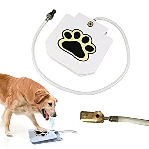 More Choice Dog Supplies Upgrade Pet Step Spray Paw Water Fountain Feeder Drinking Spring Pedal Water Feeder