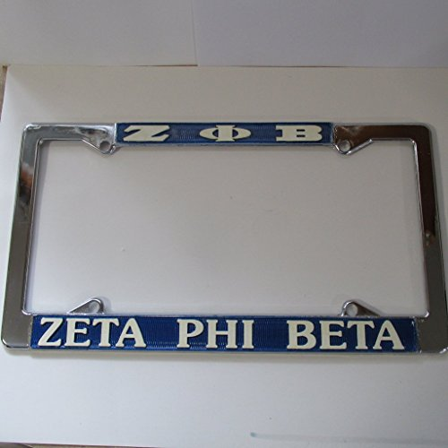 Zeta Phi Beta Chrome Metal Silver License Plate