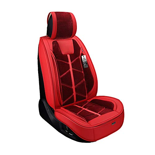 [Leather Plush Car Seat] Wear-Resistant Skin, with Storage Bag, 5 Seats Universal, Surrounded By: