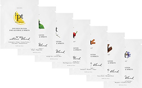 Teroforma 1pt VARIETY PACK Infusion Blends for Alcohol & Spirits - Flavor Infuser Packets for Home Infusion (7 Packets - Citrus, Mint, Floral, Chili, Cinnamon, Chocolate, Smoky)