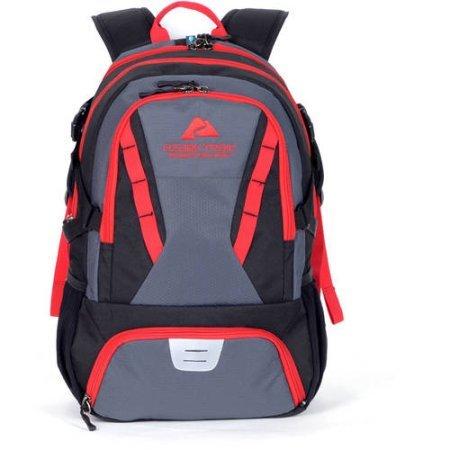 35L Choteau Daypack Backpack - black/red by Ozark Trail