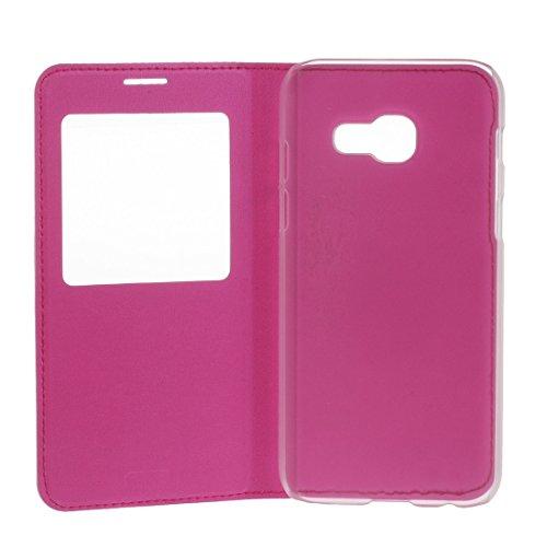 XIAOGUA Cases & Covers, Para Samsung Galaxy A5 (2017) / A520 Litchi Texture Horizontal Flip Funda de cuero PU con identificador de pantalla de llamadas, pequeña cantidad recomendada antes de Samsung G Magenta
