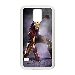 D-PAFD Customized Print Iron Man Hard Skin Case Compatible For Samsung Galaxy S5 I9600