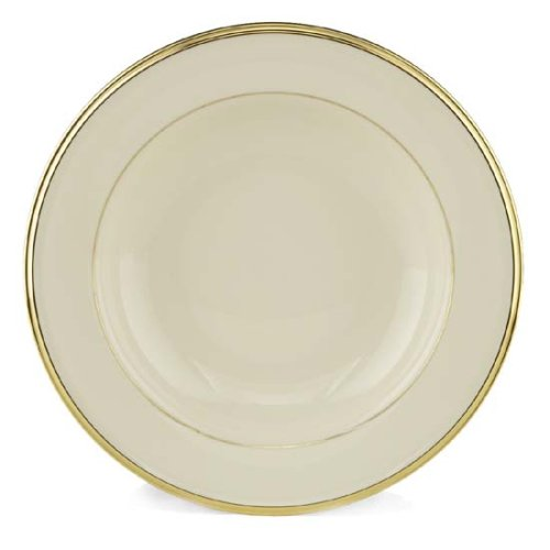 Lenox Eternal Gold Banded Ivory China Pasta Bowl/Rim Soup