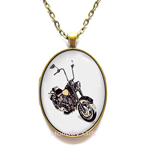 Motorcycle Necklace,Motorbike Pendant,Motorcyclist Gift Necklace,Art Gifts,for Her,for him.HTY-312