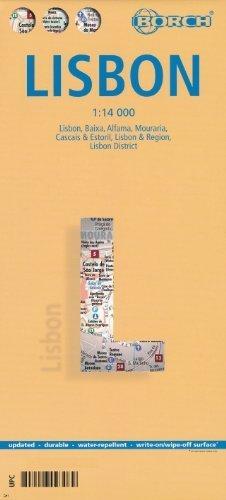 Lisbon (Lisboa, Portugal) 1:14,000 Street Map, waterproof BORCH by Borch Verlag (2014-05-04)