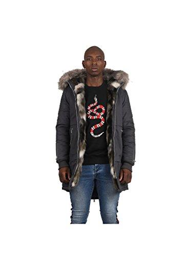 Clair Coton Homme Gris X En Parka Paris Fourrure Project Colorée zpPSq4wnx
