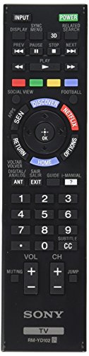 Sony Original Rm-yd102 Smart Led Hdtv Remote Control with Virtual Keyboard, 3d Button and Netflix Button (Rmyd102)(149276611) by Sony