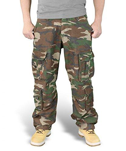 Surplus Homme Pantalon AIRBORNE VINTAGE OVERSIZE , Size 6XL, Color woodland