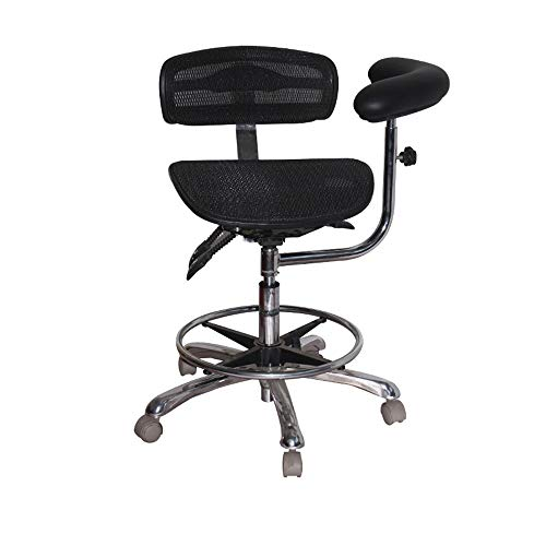 HYRL Adjustable Medical Stool Chair with Back Support Ergonomic Chair, Suitable for Hospital Laboratory Pharmacy Salon Office and Family, Mesh