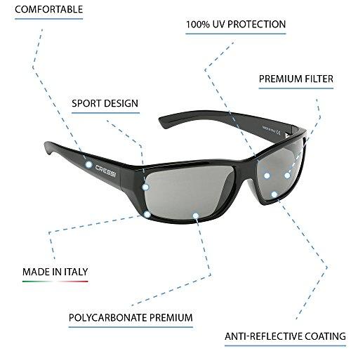 Deportivas Negro Verde de Cristales para Sol UV Adulto Cressi Gafas Anti Polarizados 100 1ax4gg