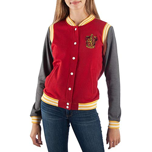 Bioworld Harry Potter Gryffindor Varsity Jacket for Juniors-Small Red