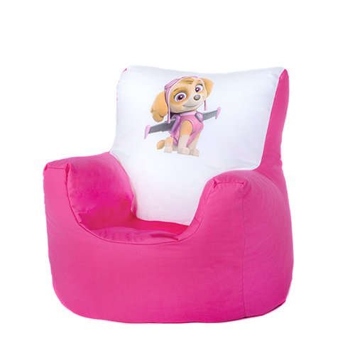 Paw Patrol Skye Print Childrens Toddler Character Bean Bag Chair Seat With 100 Cotton Cover