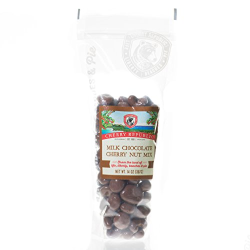 Fancy Cherries (Cherry Republic Milk Chocolate Cherry Nut Mix - Nutrition-rich Trail Mix Featuring Milk Chocolate Coated Tart Dried Cherries, Roasted Pecans, Cashews & Almonds - All-purpose Snack Mix - 14 Ounces)
