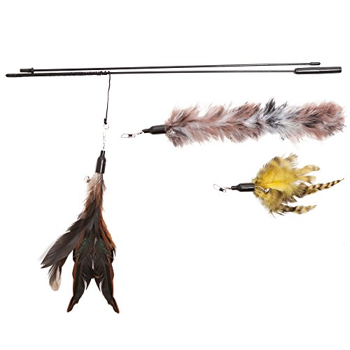 The-Natural-Pet-Company-Feather-Wand-Cat-Toy-Includes-3x-Feather-Refills-these-Natural-Feathers-are-Guaranteed-to-Drive-Your-Cat-Wild