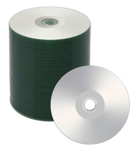 500 Spin-X 52x CD-R 80min 700MB Silver Inkjet Hub Printable by SpinX