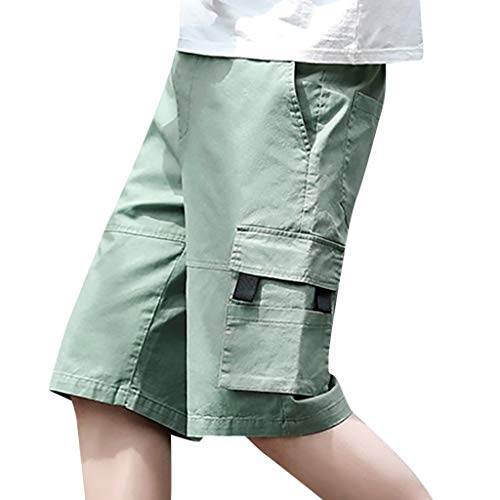 - Men's Premium Relaxed Fit Cargo Short Casual Outdoors Pocket Pants by JUSTnowok Green