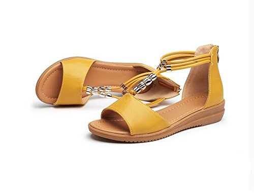 BAJIAN Toe Zapatos Bajos heelsWomen Sandalias Alto Sandalias oras Peep LI Se Verano Chanclas Zapatos qTrfxwqU