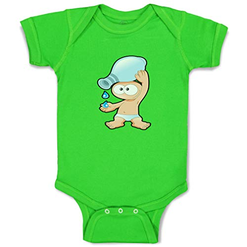 Custom Boy & Girl Baby Bodysuit Aquarius Sign Funny Funny Cotton Baby Clothes Apple Green Design Only 6 Months