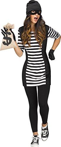 Burglar Halloween Costume Girl (Burglar Babe Adult - S/M (2-8))