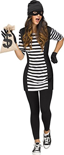 Burglar Babe Adult - S/M (Woman Burglar Halloween Costume)