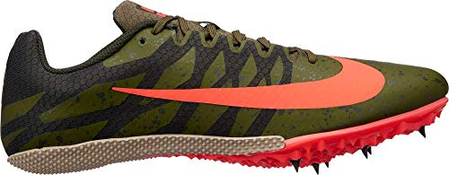 Orange Sprint Shoes - Nike Men's Zoom Rival S 9 Track and Field Shoes(Olive/Orange,10D(M))