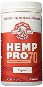 Manitoba Harvest Hemp Pro 70 Protein Supplement, 16 Ounce
