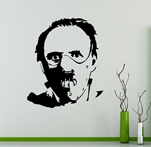 Hannibal Lecter Wall Decal Anthony Hopkins Vinyl Wall Sticker Home Interior Decor Removable Design 3(hlr)
