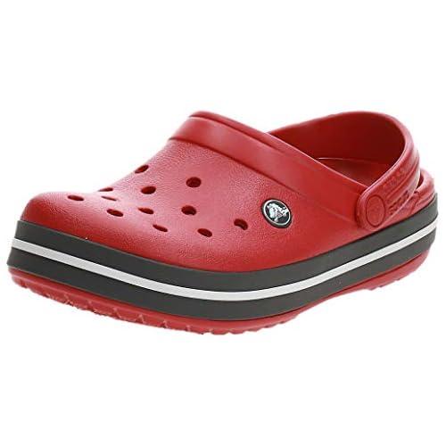 chollos oferta descuentos barato Crocs Crocband U Zuecos Unisex Adulto Rojo Pepper 43 44 EU