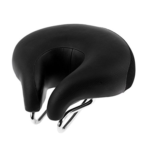 MagiDeal Bike Saddle Mountain Bike Seat No Nose Split MTB Bi