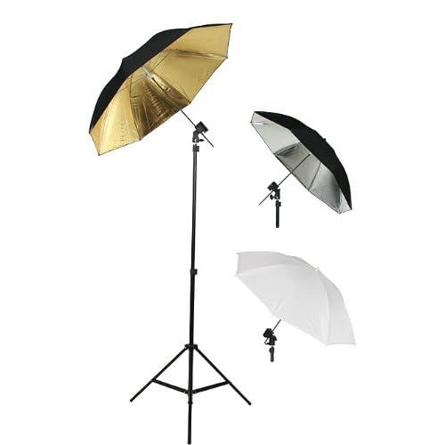 Photography Photo Studio Flash Mount Umbrellas Kit Three Umbrellas By Fancier Fan UB1