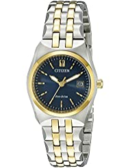 Citizen Womens Eco-Drive Stainless Steel Watch with Date, EW2294-53L